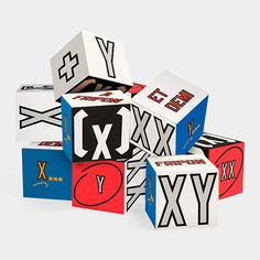 Lawrence Weiner Xx Yy Wooden Blocks