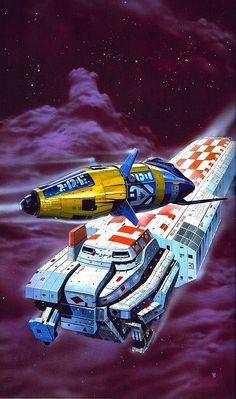 Spaceships, a la Chris Foss Space Fantasy, Fantasy Art, Aliens, Arte Sci Fi, 70s Sci Fi Art, Fantasy Illustration, Space Illustration, Science Fiction Art, Space Crafts