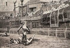 Ancient Greeks would watch gladiator games for sport. I can't imagine watching men kill eachother for entertainment...