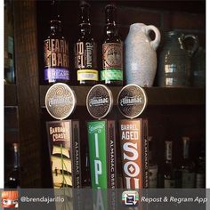 Repost from @brendajarillo - @almanacbeer Bottles. Drafts & 32oz jugs of delicious. Tonight @tapandtrotter - 1st night of @bostonpotter 's custom made howlers. #ebf #beer #boston #sours by tapandtrotter February 04 2016 at 02:04PM