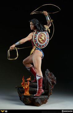 Drawing Dc Comics By Athena's Shield! The Wonder Woman Premium Format™ Figure Approaches Wonder Woman Art, Wonder Woman Comic, Gal Gadot Wonder Woman, Comic Movies, Comic Books Art, Comic Art, Comics Girls, Dc Comics Art, 3d Art