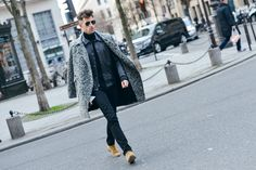 Mens Black Skinny Jeans and Overcoat Look | Men's Street Style | Get the look at The Idle Man | Shop now | #StyleMadeEasy