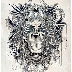 Lion Art Print by Feline Zegers | Society6