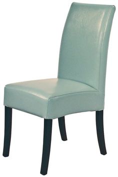 New Pacific Direct Valencia Leather Chair with Flat Top, Blue