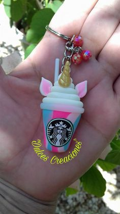 It's a Unicorn Frappe with a horn and ears! Never thought of that idea