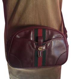e3fa148dc34 Gucci Rare Leather Burgundy Cross Body Bag on Sale, 66% Off   Cross Body