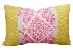 One Kings Lane - The Bright Stuff - Diamante 24x16 Pillow, Multi