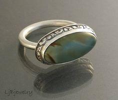 Sterling Silver Ring Imperial Jasper Ring Gemstone by LjBjewelry, $90.00