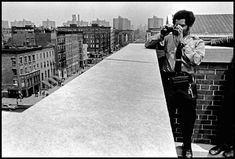 """1972. A police officer on the roof of one of New York's schools oversees drug dealers trying to sell drugs to schoolchildren. """"These school guards are useless"""" - said one of the teachers. """"Calm yourself can be felt only with real police officers, armed with a real gun and on duty in the corridors of the school. Then I'm no longer a teacher. I overseer."""""""