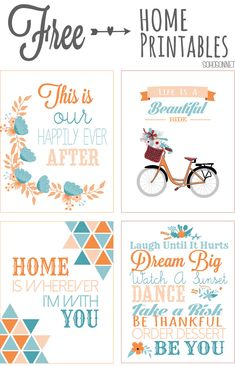 Free Inspirational Quote Printables from SohoSonnet Creative Living {4 color combinations to choose from}
