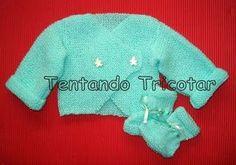 Tentando Tricotar: Casaquinho atravessado da Aldina