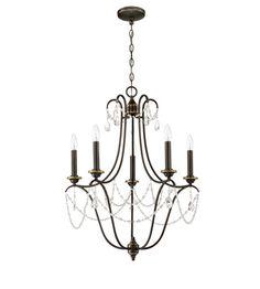 Craftmade 41125-LB Lilith 5 Light 24 inch Legacy Brass Chandelier Ceiling Light, Jeremiah #LightingNewYork