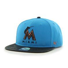 5674c05d3415a Miami Marlins Juli Gunk Croc Vintage Glacier Blue 47 Brand Adjustable Hat