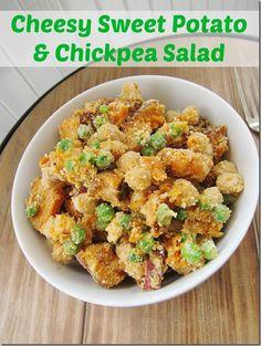 Cheesy Sweet Potato & Chickpea Salad