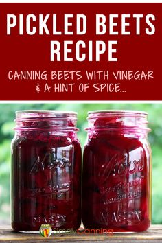 Pickled beets don't have to be boring! Change it up with some spices. - This pickled beets canning recipe is sweet and slightly spicy! Get the old-fashioned recipe at Simp - Canned Beets Recipe, Canned Pickled Beets, Canning Beets, Canning Pickles, Canning Vegetables, Old Fashioned Pickled Beets Recipe, Homemade Pickled Beets Recipe, Refrigerator Pickled Beets, Sauces