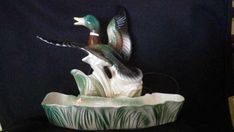 Mallard Duck TV Lamp and Planter By Lane and Company of