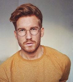 Enjoy the curated collection of inspired fashion from redhead and ginger men from Famous Outfits! Included are a variety of great looks for redheads. Hot Ginger Men, Ginger Beard, Red Beard, Ginger Guys, Redhead Men, Mens Glasses, Men With Glasses, Hair And Beard Styles, Men's Grooming