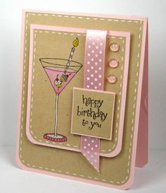 Happy Pink Birthday Card Impression Obsession