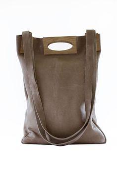 Wood bag A3+ sand - Marly - BijzonderMOOI* - Dutch design Leuke hebbedingetjes en cadeautjes-site
