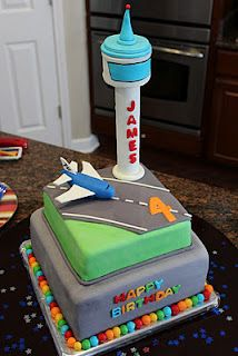 Airplane/Airport Cake (def will not make to this level!! Pinning for runway & tower)