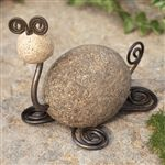 River Stone and Wire Garden Tortoise by Ancient Graffiti