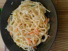 Recette de Spaghetti diet' à la julienne de légumes
