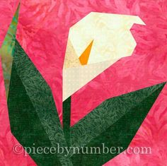 15 best paper piece quilts images on pinterest in 2018 paper calla lily paper pieced quilt block mightylinksfo