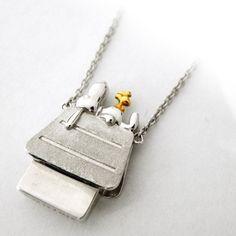 Amazon.com: Snoopy Silver necklace / House SNAC512: Jewelry