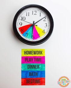 Aider vos enfants à respecter leurs tâches quotidiennes en créant cette horloge pour après l'école.