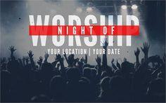 Night of Worship // psd