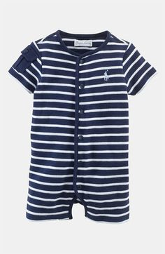 Ralph Lauren Stripe Romper (Infant)