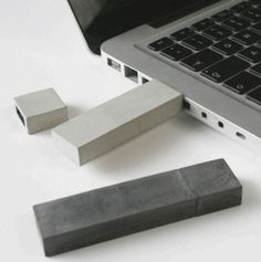 USB-Stick made of concrete.