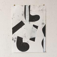 purgingdistance: 42 X 29.7 cm monotype print on paper Vincent Hawkins