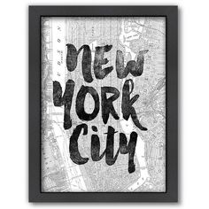 Americanflat ''New York City'' Map Framed Wall Art () (4.600 RUB) ❤ liked on Polyvore featuring home, home decor, wall art, words, art, filler, word wall art, quote wall art, framed wall art and new york city home decor