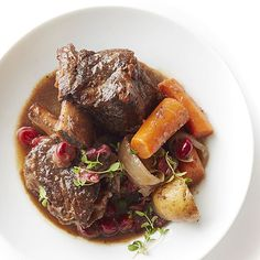 These sweet and savory short ribs are fall-off-the-bone tender. Even better, the whole meal comes together in just one pot. http://www.bhg.com/recipes/from-better-homes-and-gardens/december-2014-recipes/?socsrc=bhgpin121914shortribsandcranberrygravy&page=34