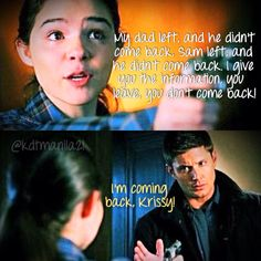 Made by Krysta Taylor #supernatural #supernaturalquotes