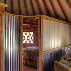 Sean and Mollie Busby met. They traveled the world, eventually settling in an off-the-grid yurt in Montana where they lug their own water home from a well. Yurt Living, Tiny Living, Yurt Interior, Interior Design, Luxury Interior, Yurt Home, Silo House, Van Home, Tiny Cabins