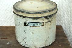 Antique Kitchen Tin - Sugar Canister
