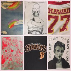 Vintage tees in our SF shop