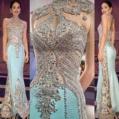 DHEYMID GALAVIZ gown worn by Diana Croce, Miss World Venezuela 2016