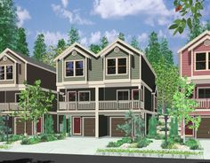 House Plans, Duplex Plans, Row Home Plans