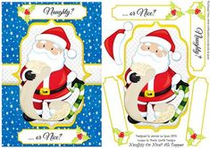 Naughty or Nice A5 Topper on Craftsuprint designed by Jennie Le Guen - Better watch out - he's checking his list twice! Have you been naughty, or nice
