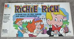 Vintage 1982 Richie Rich Board Game Harvey Comics #MiltonBradley
