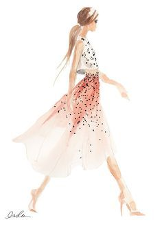 watercolor how to colour a fashion figure - Google Search