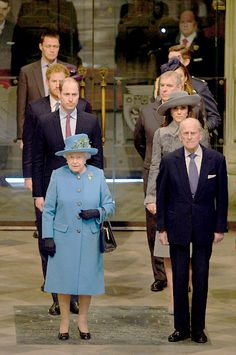 The Queen+ Prince Phillip+Prince Andrew, Duchess of Cambridge and Prince William + Prince Harry Attend the Annual Commonwealth DAY Service on March 2016 in Westminster Abbey London Queen And Prince Phillip, Prince Philip, Prince Harry, Prince William, English Royal Family, British Royal Families, Princess Margaret, Princess Kate, Duchess Of York