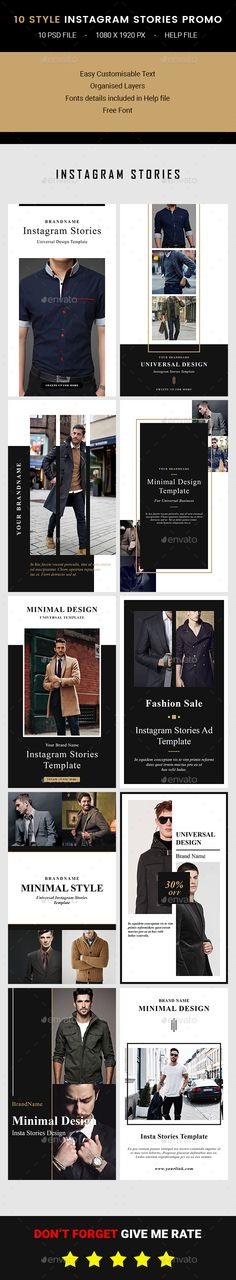 Instagram Stories - Social Media Web Elements