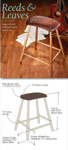 Esherick Stool Plans - Furniture Plans and Projects   WoodArchivist.com
