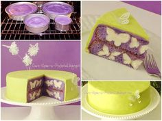 How To Make A Delicious Cake With Butterflies Pattern Inside