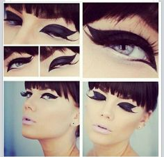 Super cat eye with double flick