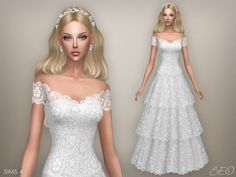 Lana CC Finds - Wedding dress - Vintage by BEO